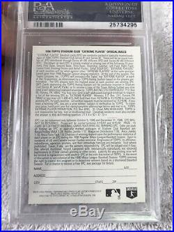 1996 Stadium Club Silver Contest Card Derek Jeter PSA 10 Pop 11 Rare Topps