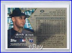 1996 Topps Chrome Derek Jeter Refractor SP rare #80