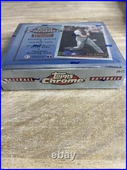 1996 topps chrome baseball Factory Sealed box. RARE. Derek Jeter Refractor