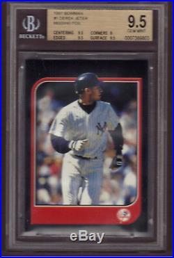 1997 Bowman Derek Jeter Rare Error No Name On Front Bgs 9.5 Gem Mint A True 1/1