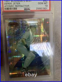 1997 Bowmans Best Atomic Refractor #82 Derek Jeter PSA 10 Pop 5! Bowmans Rare