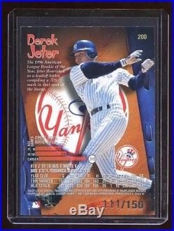 1997 Circa Derek Jeter Rave #d 111/150 Super Rare Jeter Insert Yankees Hof