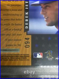 1997 DEREK JETER Pinnacle Certified RARE TEAM GOLD #D 94 WPeel #3 PSA 8