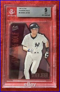 1997 Fleer Ultra STARRING ROLE Derek Jeter #9 N. Y. Yankees MINT RARE SP BGS 9