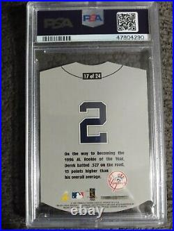 1997 Pinnacle Home/Away #17 Derek Jeter AWAY PSA 10 Very Rare SSP Yankee's