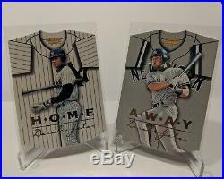 1997 Pinnacle Home/Away DEREK JETER SET #17 & #18 super rare inserts both cards