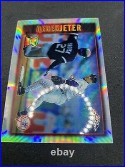 1997 Topps Chrome Derek Jeter Refractor #7 Rare Was A PSA 8 Please Read Descr