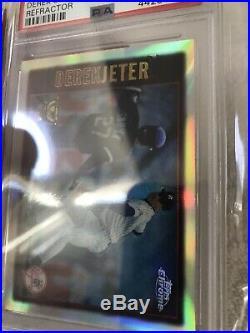 1997 Topps Chrome Refractor #7 Derek Jeter PSA 9 Pop 10 None Higher Rare Mint