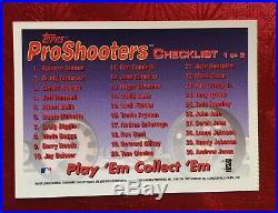 1997 Topps ProShooters Checklist TEST ISSUE Derek Jeter #1 SP TUFF RARE Insert