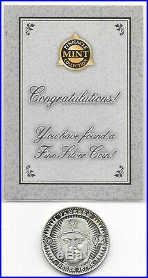 1998 Derek Jeter Pinnacle Mint SOLID SILVER Coin 999 Fine Silver RARE
