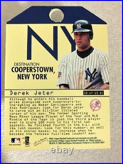 1998 Fleer Ex 2001 Destination Cooperstown Derek Jeter Super Rare Short Print