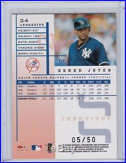 1998 Leaf Rookies and Stars Longevity Derek Jeter 05/50 Rare SP Parallel