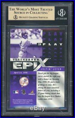 1998 Pinnacle Epix Derek Jeter #E8 Play Purple Test Issue BGS 9.5 RARE