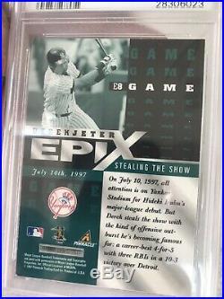 1998 Pinnacle Epix Emerald Game #E8 Derek Jeter PSA 9 Pop 5 Rare Only 1 10