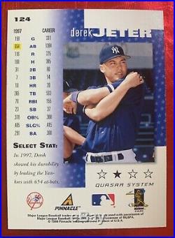 1998 Pinnacle SELECT BANKRUPTCY Derek Jeter #124 New York Yankees SUPER RARE SSP