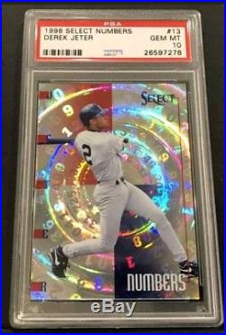 1998 Pinnacle Select Numbers Derek Jeter # 13 PSA 10 GEM MINT Rare Only 1 EBay