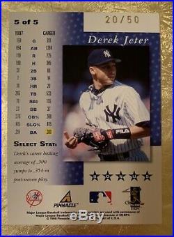 1998 SELECT FIVE STAR BONUS BANKRUPTCY Derek Jeter #5 Yankees SUPER RARE SSP /50