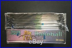 1998 TOPPS TEK BASEBALL Factory SEALED BOX SUPER RARE 20 Packs Crazy Inserts