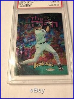 1998 Topps Finest Derek Jeter The Man Ultra Rare Only One On eBay! Psa 9