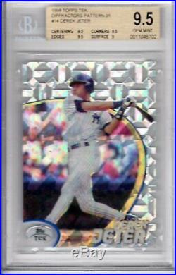 1998 Topps Tek Baseball Derek Jeter Card 14 P-31 BGS 9.5 GEM MINT RARE POP 1