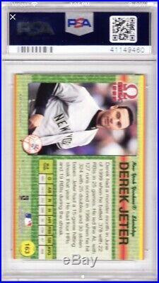 1999 Pacific Omega Premier Date #163 Derek Jeter PSA 8 /50 Made Pop 2 Ultra Rare