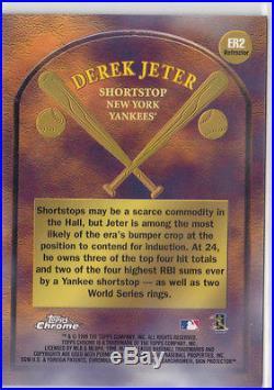 1999 Topps Chrome Derek Jeter Early Road to the Hall Super Rare ERROR Refractor