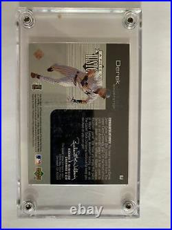 1999 Upper Deck Derek Jeter Piece Of History Game Used Bat Card rare