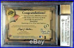 2000 Derek Jeter Fleer Greats Of The Game Ssp Auto L@@k Very Rare! Bgs 8.5