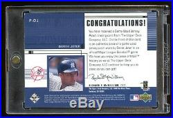 2000 Ud Derek Jeter 100% Authentic Game Worn Patch Logo Sp Super Rare Yankees