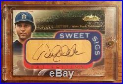 2001 Derek Jeter Fleer Sweet Sigs Jumbo Bat Auto N. Y. Yankees Rare A Beauty