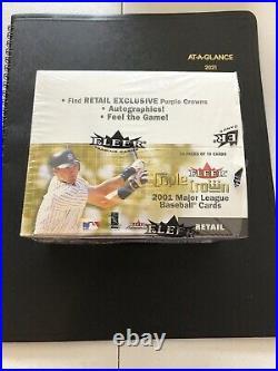 2001 Fleer Triple Crown Baseball Boxunopenedvery Rare