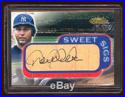 2001 Showcase Derek Jeter Autograph Sp Bat Edition Rare Auto Yankees Future Hof