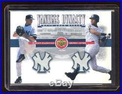 2001 Ud Yankees Dynasty Derek Jeter / Roger Clemens Dual Game Used Base Sp Rare