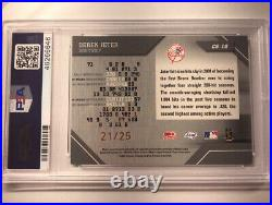 2002 Derek Jeter Leaf Certified Mirror Gold SSP /25 Yankees HOF RARE