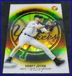 2002 Topps Pristine Gold Refractor Derek Jeter RARE REFRACTOR /70! MORE LISTED