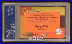 2002 Ultra Derek Jeter Autograph Auto Fall Classics Sp Rare Psa 8.5 Hof