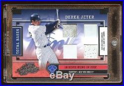 2003 Absolute Derek Jeter Quad Game Used Base /18 Super Rare Never Seen Hof