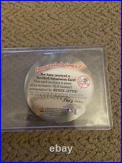 2003 Fleer Hardball Signatures Derek Jeter Auto Autograph Yankees Rare Sp
