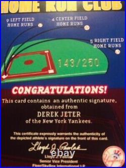 2003 Fleer Splendid Splinters Derek Jeter Home Run Club Auto Autograph /250 Rare