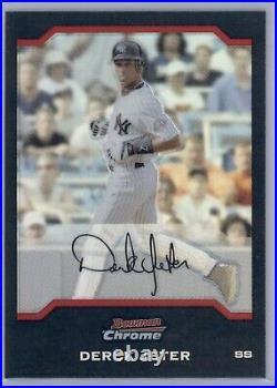 2004 Bowman Chrome Derek Jeter #3 Refractor NY Yankees HOF Rare