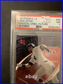 2004 Derek Jeter Fleer EX Essential Credentials 27/40 POP 2 Only 2 Higher RARE