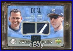 2004 Ud Derek Jeter / Alex Rodriguez Dual Patch Logo /10 Super Rare Yankees Hof