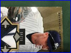 2004 Upper Deck Diamond Champs Derek Jeter Authentic Game Used Patch 4/10 Rare