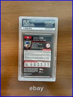 2006 Bowman Chrome Derek Jeter Refractor #65 Gem Mint PSA 10 VERY RARE LOW POP