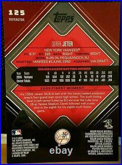 2006 Topps Finest Derek Jeter White Frame Refractor True 1/1 Rare