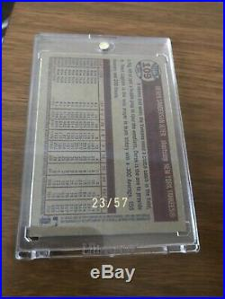 2006 Topps Heritage chrome Black Refractor #109 Derek Jeter 23/57 Rare