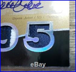 2007 Exquisite Collection Derek Jeter AUTO Gold Quad Patch Rare Card #'d 10/10