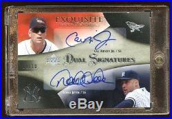 2007 Exquisite Derek Jeter / Cal Ripken Jr #d 08/10 Dual Autograph Auto Hof Rare