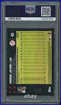 2007 Topps #40 Copper Limited 22/56, Derek Jeter Bush & Mantle Psa 9 Super Rare