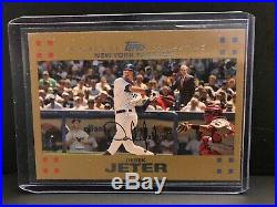 2007 Topps Baseball #40 Derek Jeter Bush/mantle Error Card Gold Hof Rare